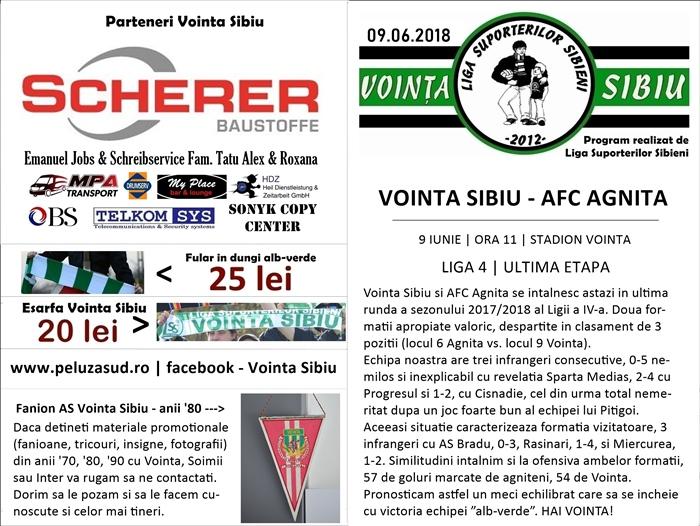 Vointa - AFC Agnita, pag 1 si 4